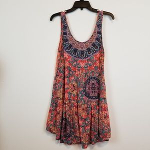Angie lace BOHO tunic top size Medium